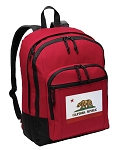 California Flag Backpack CLASSIC STYLE Red