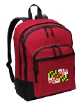 Maryland Backpack CLASSIC STYLE Red