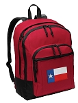 Texas Flag Backpack CLASSIC STYLE Red