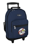 Baseball Rolling Navy Backpacks