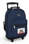 California Flag Rolling Navy Backpacks