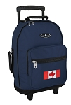 Canadian Flag Rolling Navy Backpacks
