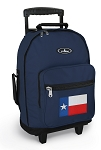 Texas Flag Rolling Navy Backpacks