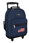 American Flag Rolling Navy Backpacks