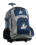 Cute Cats Rolling Backpack Navy