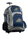 Crazy Cat Rolling Backpack Navy