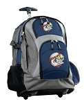 Baseball Rolling Backpack Navy