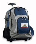 California Flag Rolling Backpack Navy