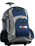 Colorado Rolling Backpack Navy