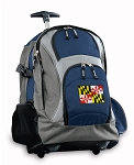 Maryland Rolling Backpack Navy