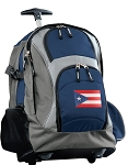 Puerto Rico Rolling Backpack Navy