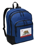 California Flag Backpack Blue