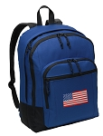 American Flag Backpack Blue