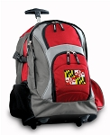 Maryland Rolling Backpack Red