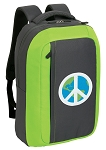 Peace Sign SLEEK Laptop Backpack Green