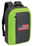 American Flag SLEEK Laptop Backpack Green