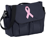 Pink Ribbon Diaper Bag Navy