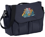 Crazy Cat Diaper Bag Navy