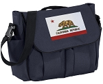 California Flag Diaper Bag Navy