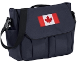 Canadian Flag Diaper Bag Navy