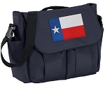 Texas Flag Diaper Bag Navy