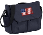 American Flag Diaper Bag Navy
