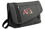 Alpha Gamma Messenger Laptop Bag Stylish Charcoal