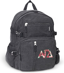 Alpha Gamma Canvas Backpack Black