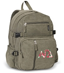 Alpha Gamma Canvas Backpack Olive