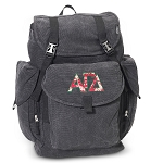Alpha Gamma LARGE Canvas Backpack Black