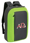 Alpha Gamma SLEEK Laptop Backpack Green