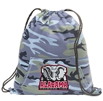 Alabama Drawstring Backpack Blue Camo