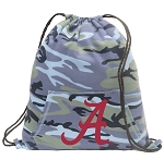 University of Alabama Drawstring Backpack Blue Camo