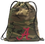 University of Alabama Drawstring Backpack Green Camo