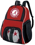 Alabama Soccer Backpack or Alabama Volleyball Practice Bag Red Boys or Girls