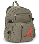 University of Alabama Canvas Backpack Olive