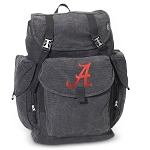 University of Alabama LARGE Canvas Backpack Black