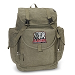 Alabama LARGE Canvas Backpack Olive