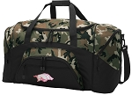 Official Womens University of Arkansas Camo Duffel Bags