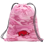 Arkansas Razorbacks Drawstring Backpack Pink Camo