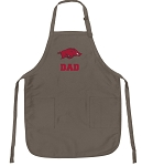 Official Arkansas Razorbacks Dad Apron Tan