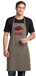University of Arkansas Dad Large Apron Khaki