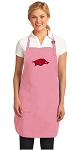 Deluxe University of Arkansas Apron Pink - MADE in the USA!