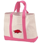 University of Arkansas Tote Bags Pink