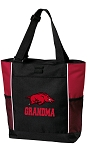 University of Arkansas Grandma Tote Bag Red