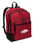 University of Arkansas Backpack CLASSIC STYLE Red