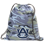 Auburn Drawstring Backpack Blue Camo