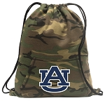 Auburn Drawstring Backpack Green Camo