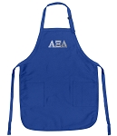 Deluxe AZD Sorority Apron Alpha Xi Delta Logo for Men or Women