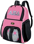 Girls Alpha Xi Delta Soccer Backpack or AZD Sorority Volleyball Bag